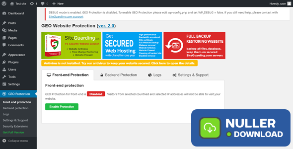 WP GEO Website Protection PRO 2.8.3