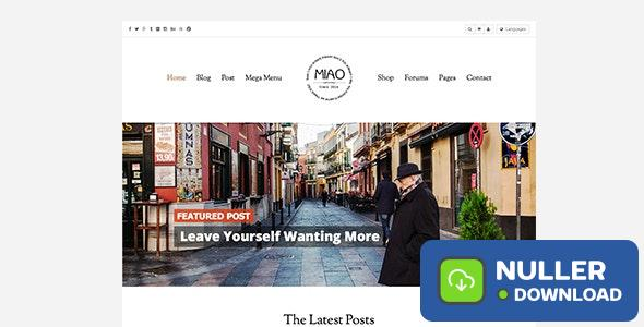 Miao v1.1.2 - Fashion Magazine, News & Blog WordPress Theme