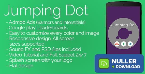 Jumping Dot - Admob + Leaderboards + Share