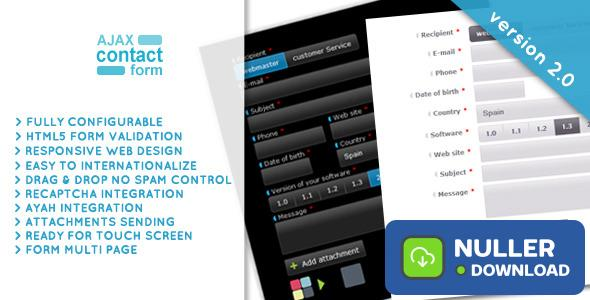 Ajax Contact Form with attachments 2.0