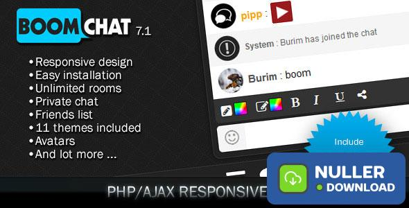 Boomchat v7.0 - Responsive PHP/AJAX Chat
