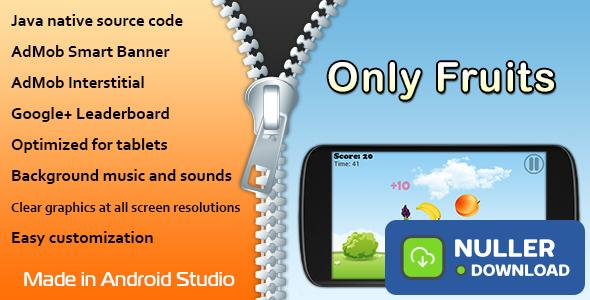 Only Fruits Game with AdMob and Leaderboard