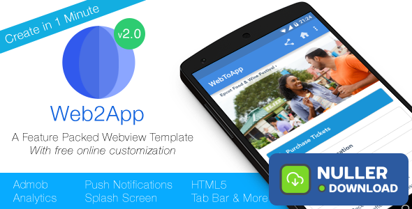 Web2App - Quickest Feature-Rich Android Webview