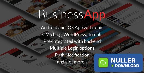 BusinessApp - Ionic iOS/Android Full Application with powerful CMS