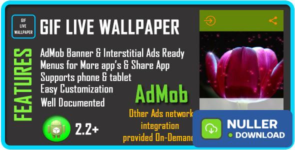 GIF Live Wallpaper with AdMob