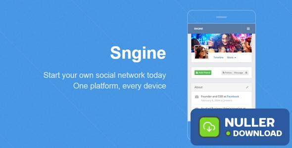 Sngine v2.5.4 - The Ultimate PHP Social Network Platform - nulled