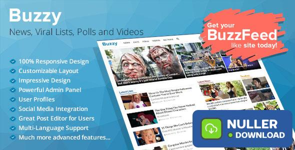 Buzzy v3.0.3 - News, Viral Lists, Polls and Videos - nulled