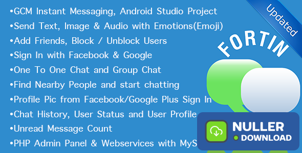 Fortin GCM Chat v3.0 - Location, Group, Individual