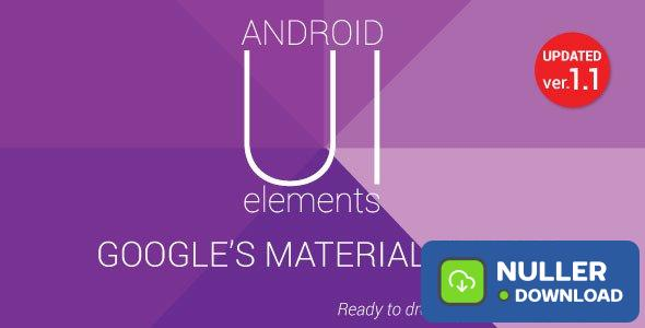 Material Design UI Android Template App v1.1