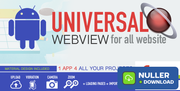Android WebView App - Universal for all website