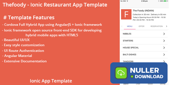 Thefoody - Ionic Restaurant App Template