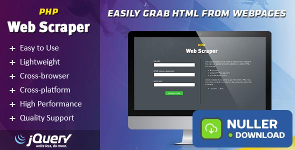 PHP Web Scraper - Easily Grab HTML From Websites