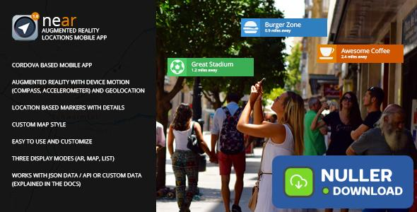 near - Augmented Reality Locations Mobile App