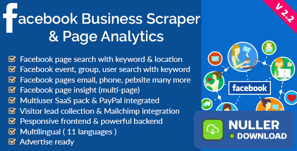 Facebook Business Scraper & Page Analytics v2.2