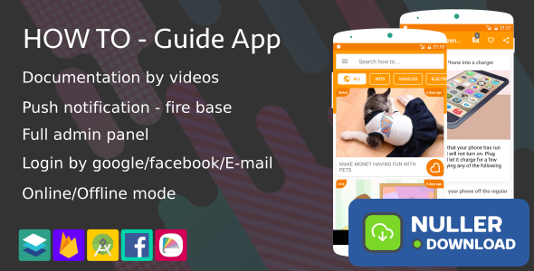 How To - Guide App (Notification,Login social,Material design ...)