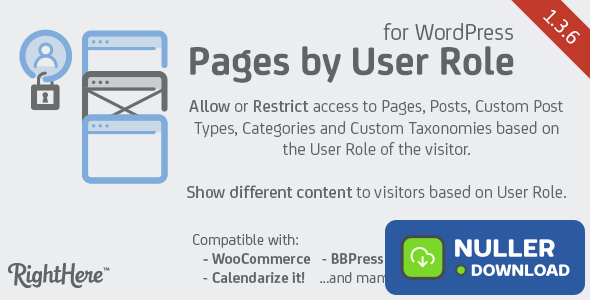 Pages by User Role for WordPress v1.3.6