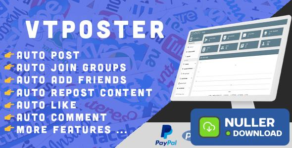 VTPoster v1.5 - Facebook Marketing Tool - nulled
