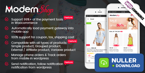 ModernShop - Full Mobile Woocommerce App for Woocommerce Store