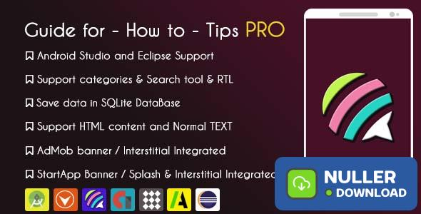 Guide for - How to - Tips Application PRO