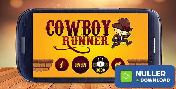 Cowboy Runner: Western Journey - Android Buildbox Game with Admob