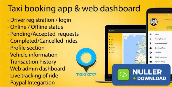 Taxi booking app & web dashboard, complete solution v1.7