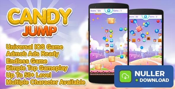 Candy Jump IOS XCODE Source Admob + Multiple Characters