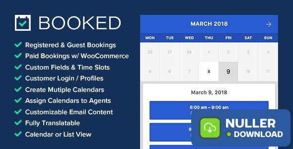 Booked v2.2.4 - Appointment Booking for WordPress