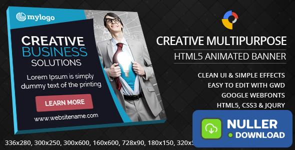 Creative Multipurpose - HTML5 Animated Banner