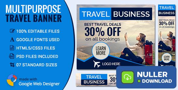 GWD - Travel & Tourism Banners - 7 Sizes