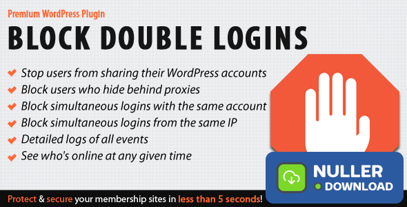 Block Double Logins v1.1 - Protect Your Membership Site