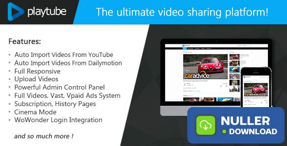 PlayTube v1.4.5.1 - The Ultimate PHP Video CMS & Video Sharing Platform