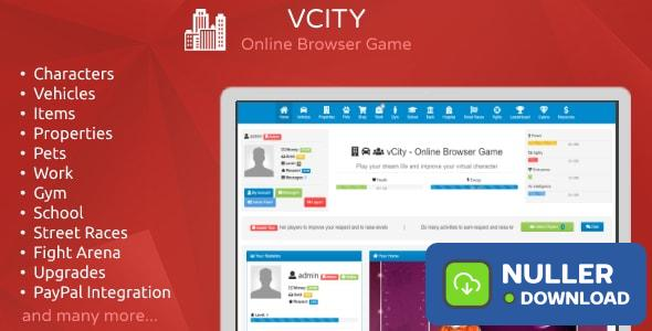vCity - Create Your Own Browser Game