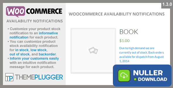 WooCommerce Availability Notifications v1.4.1