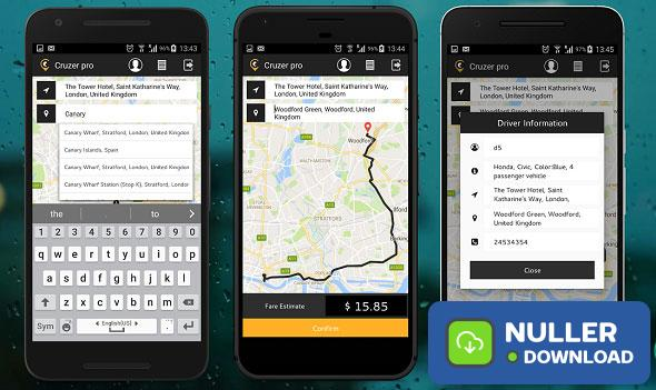 Taxi Booking Complete Solution. Web and Android App - UPDATED