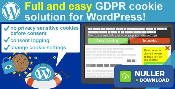 WeePie Cookie Allow v3.2.7 - Easy & Complete Cookie Consent