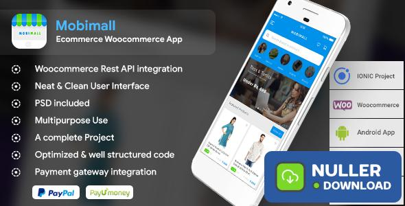 Mobimall - Ecommerce Woocommerce Android + iOS App IONIC 3