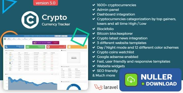 Crypto Currency Tracker v6.0 - Realtime Prices, Charts, News, ICO's and more
