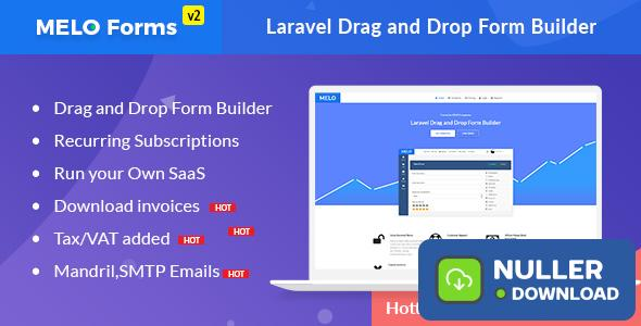 MeloForms v2.0 - Laravel Drag and Drop Form Builder Software