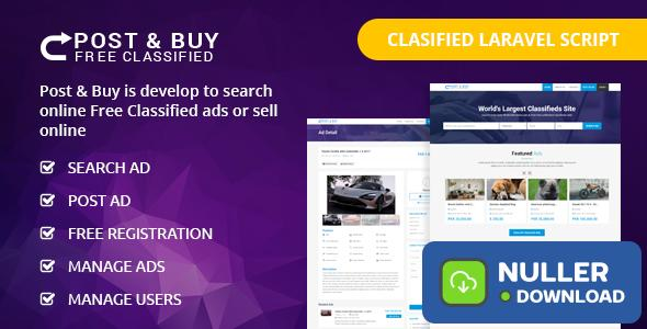 Post and Buy v1.1 - Classified Ads Listings