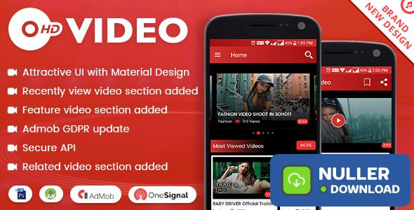 HD Video with Material Design - updated