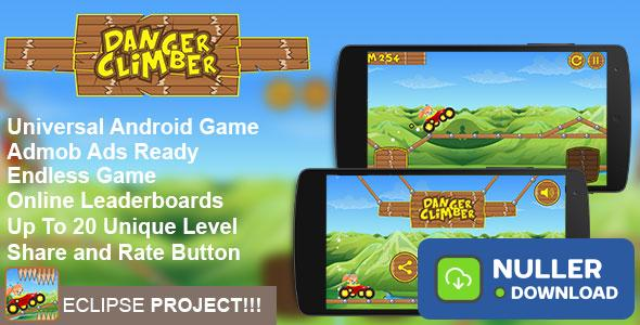 Danger Climber - Addictive Arcade Android Game Template Eclipse Project