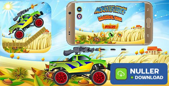 Monster Truck Machine Gun With Admob Banner & Interstitial (Android Studio Project)