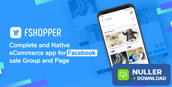 fShopper - Android app for Facebook Page or Group