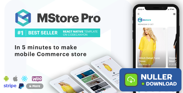 MStore Pro v3.6.2 - Complete React Native template for e-commerce