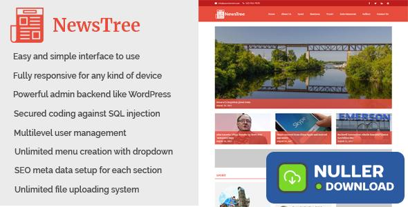 NewsTree - Magazine and News Portal Website CMS