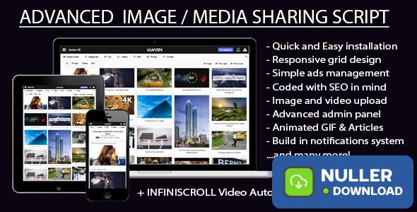 Avidi Media v2.0 - Ultimate Video, Music, Photo and Gif Sharing Script - nulled