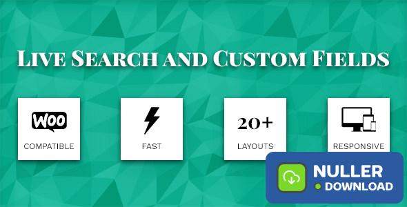 Live Search and Custom Fields v2.5