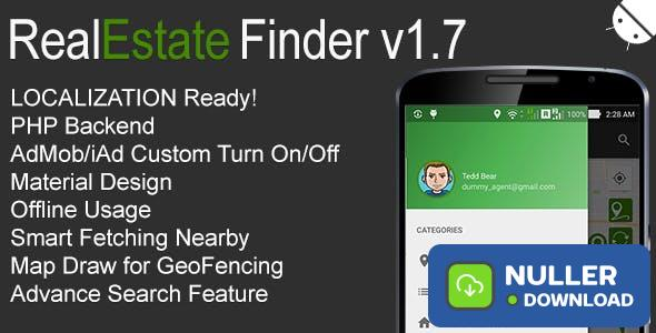 RealEstate Finder Full Android Application v1.7