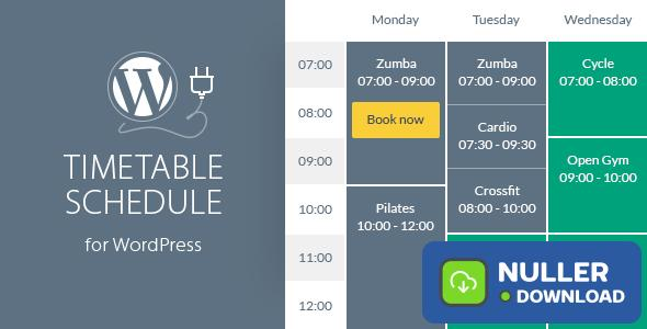 Timetable Responsive Schedule v6.0