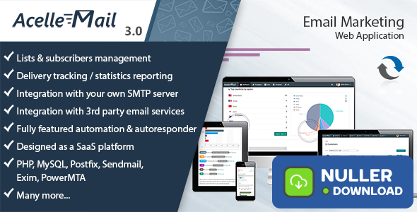 Acelle Email Marketing Web Application v3.0.20 - nulled